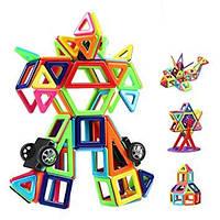 Магнітний конструктор 118 деталей Набір для конструювання з різними способами з'єднання деталей)