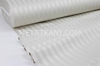 Страйп сатин светло-бежевого цвета  полоска 1*1 см  ширина 240 см № VS-1043-10