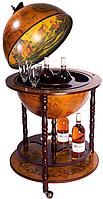 Глобус бар напольный коричневый 42001R на 3-х ножках