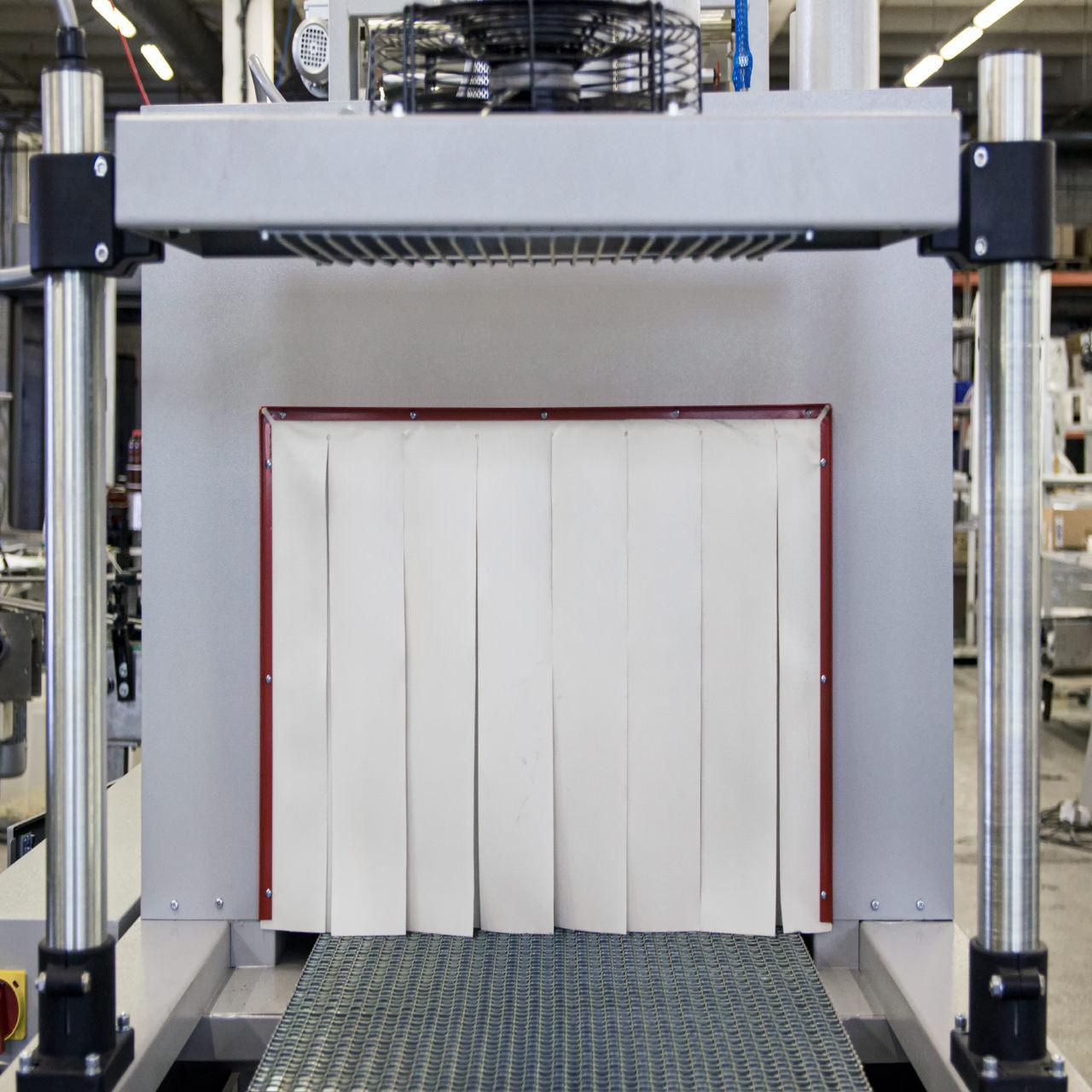 Термоштора силоксановая толщина 0,35 мм для термотоннелей белая