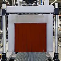 Термоштора силоксановая толщина 0,56 мм для термотоннелей красная