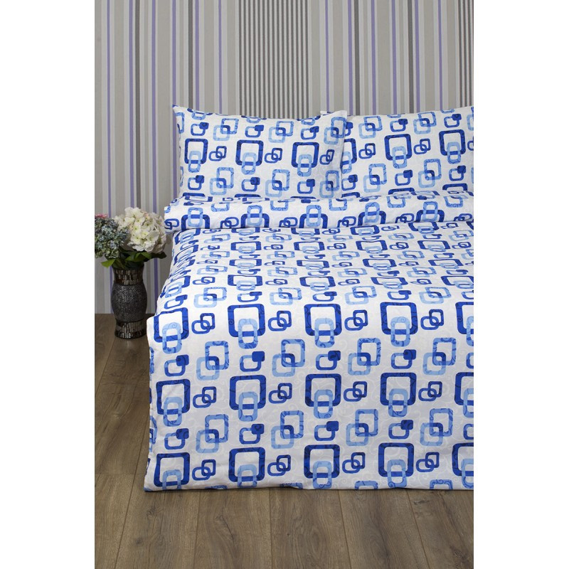 Постельное белье Lotus Ranforce - Delta синий семейное