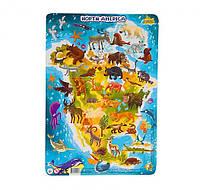 """Пазл DoDo в рамке """"Северная Америка"""" R300177, детская игрушка, подарок для ребенка"""