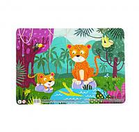 """Пазл DoDo в рамке """"Леопарды"""" R300185, детская игрушка, подарок для ребенка"""