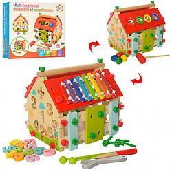 Деревянная игрушка Центр развивающий MD 2087, детская игрушка, подарок для ребенка
