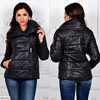 Стильная женская куртка зимняя на синтепоне арт 1126