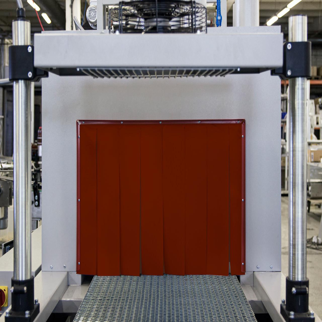 Термоштора силоксановая толщина 0,28 мм для термотоннелей красная