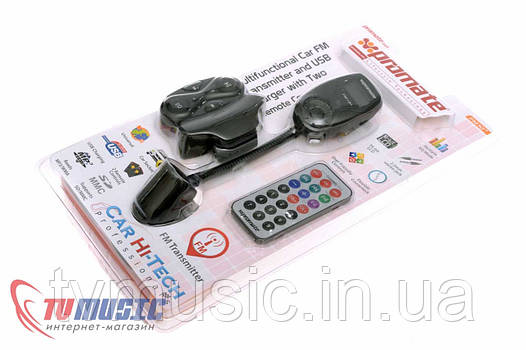 FM трансмиттер многофункциональный Promate FM10+