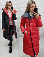 Куртка двухсторонняя женская, арт. 1006, цвет - красный/ черный