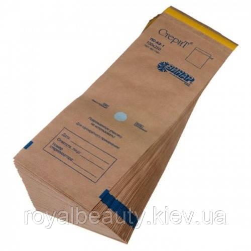 Крафт-пакеты для стерилизации. 100 х 320 (100 шт).