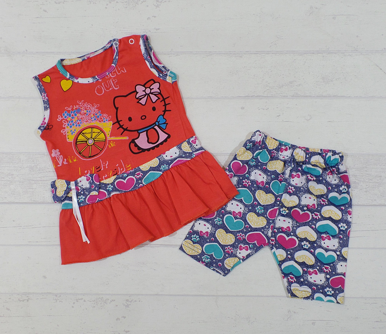 """Детский костюм  для девочки """"Китти"""" 1,2,3 года"""