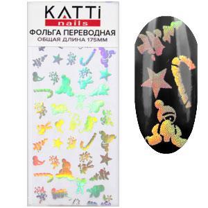 KATTi фольга переводная 36013 Новый Год прозрачная с мульти серебристым рисунком 20см