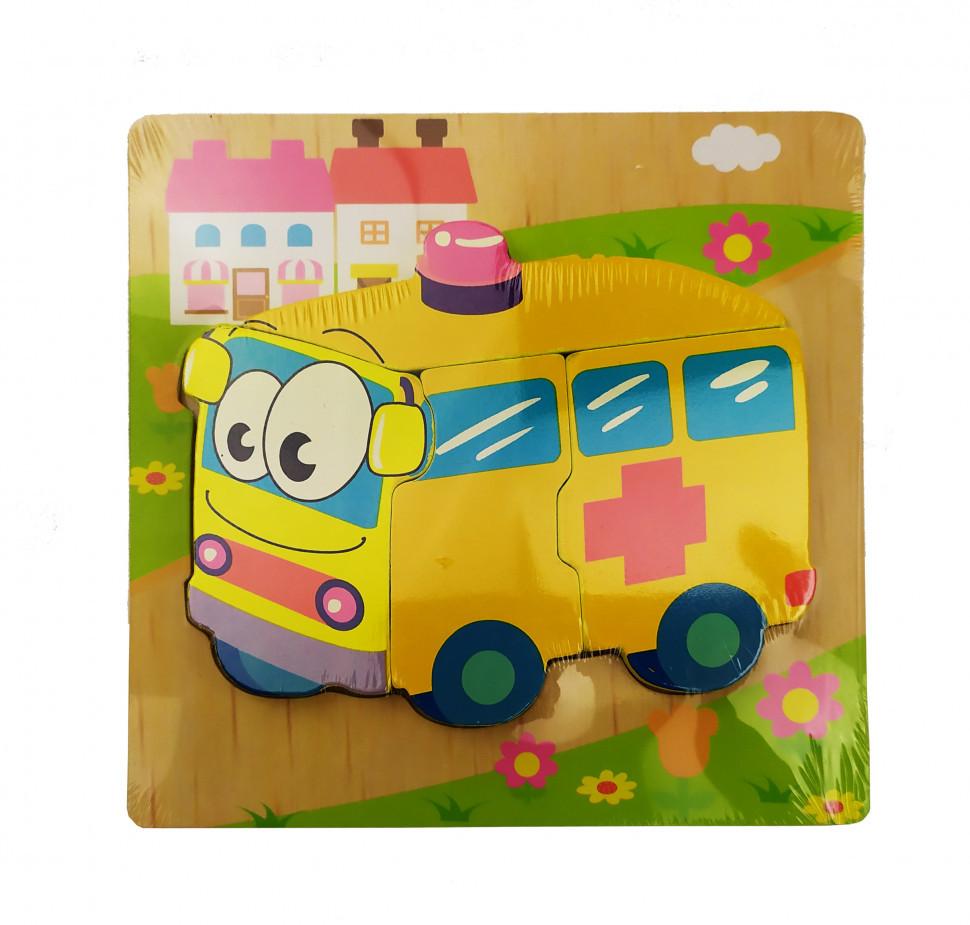 Деревянная игрушка Пазлы MD 0904 (Скорая помощь), детская игрушка, подарок для ребенка