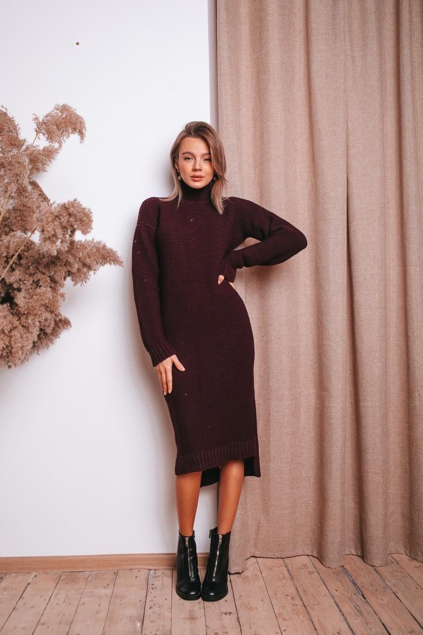 """Платье""""Алина"""" Очень удобное , мягкое и тёплое  Размер 42-46 (6167)"""