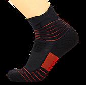 Носки баскетбольные спортивные р-р 40-45 нейлон-хлопок черно-красные (JCB3306)