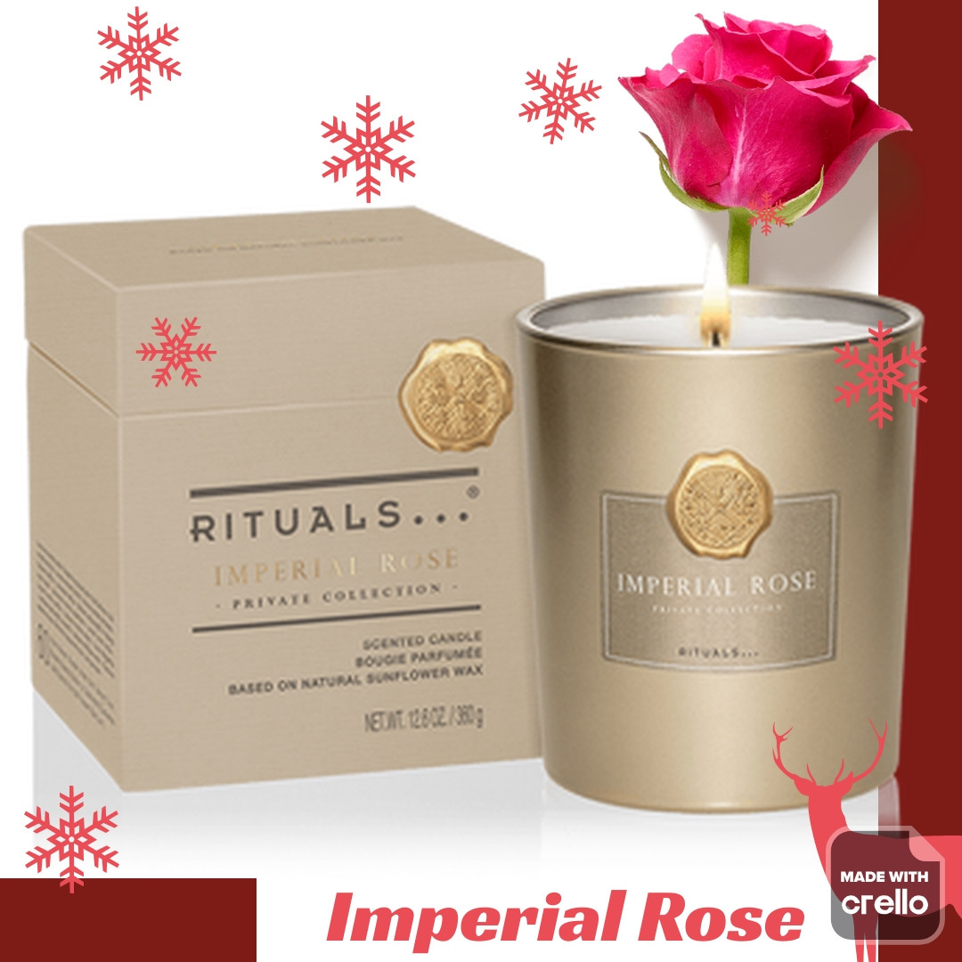 "Rituals. Ароматична Свічка ""Imperial Rose"". Виробництво-Нідерланди, 360 гр (60 годин горить)"