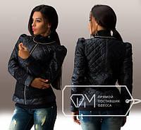 Куртка женская чёрная с кружевом НВ/-0132