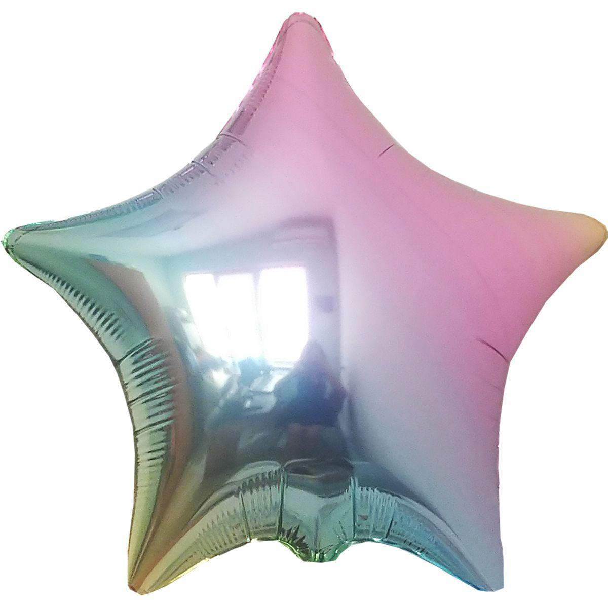 Фольгированные шары Без Рис ЗВЕЗДА  Металлик Омбре Жемчуг Flexmetal 18 (46 см)