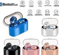 Беспроводные Bluetooth наушники Samsung Features TWS 18, Блютуз гарнитура самсунг от ТВС(Черные, Синие, Серые)