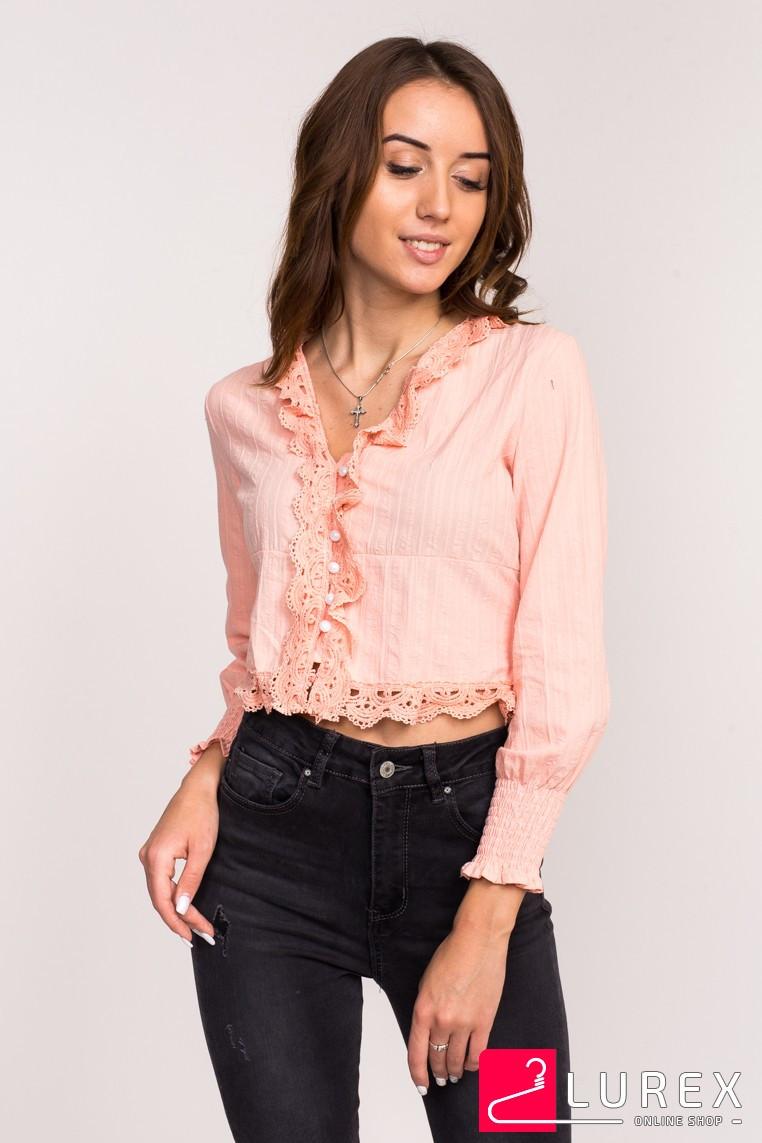 Блузка-болеро LUREX - персиковый цвет, L (есть размеры)