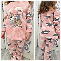 Теплая пижама на зиму для девочки