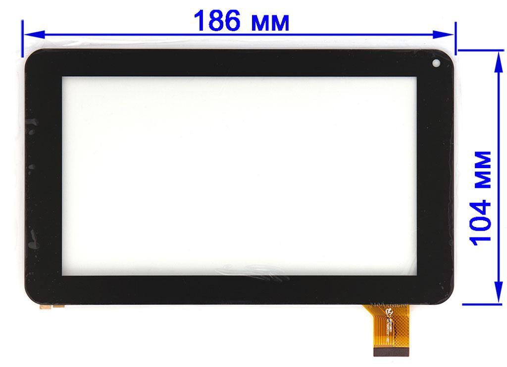 Тачскрин, сенсор для планшета Globex GU730C черный 186*104 мм 30pin