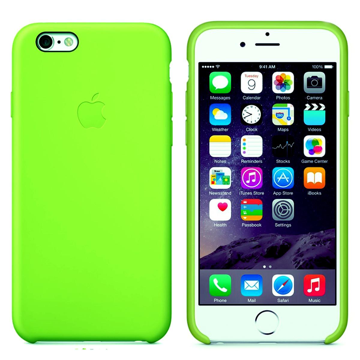 Силиконовый чехол для Apple iPhone 6 / 6S (4.7 Дюйма) Silicone case (Неоновый)