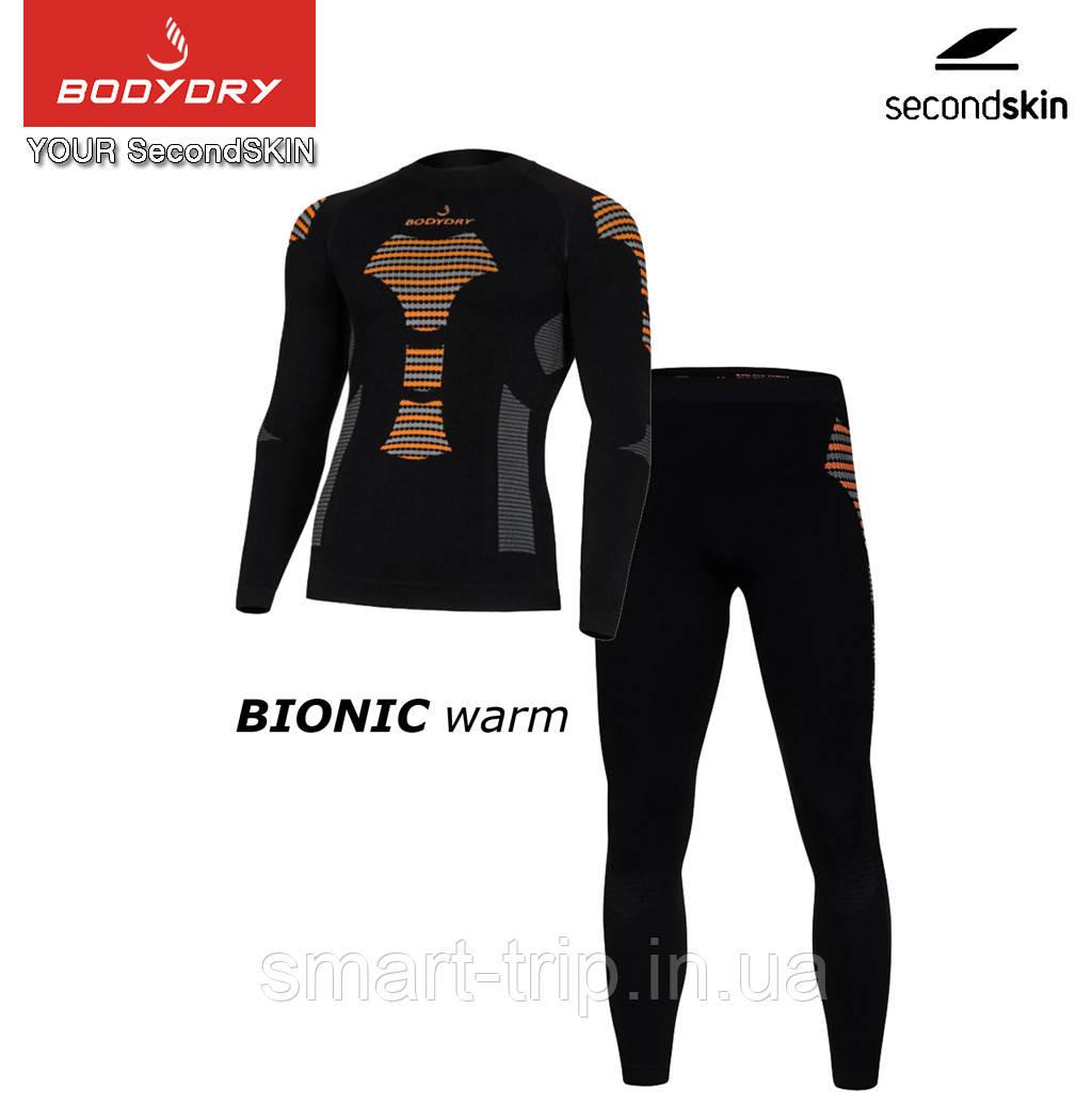 Термобілизна комплект BODYDRY Bionic чоловічий термокомплект L black/orange (BNC103-set-L)