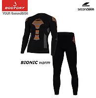 Термобілизна комплект BODYDRY Bionic чоловічий термокомплект L black/orange (BNC103-set-L), фото 1