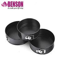 Набор разъемных круглых форм для выпечки Benson BN-1032