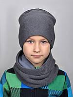 168 Зимняя шапка Лофт полушерсть. р.55-57 Черный, фото 1