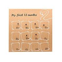 Доска для фото 12 месяцев малыша  108480