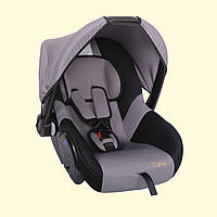Детское переносное автокресло люлька ZLATEK Colibri серый до 1,5лет до 13 кг категория 0+