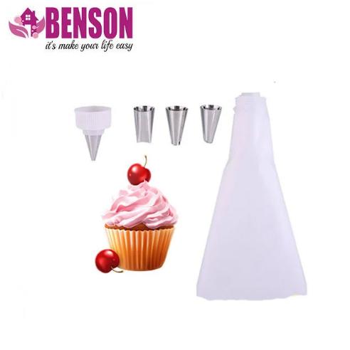 Кондитерський мішок з набором насадок для декорування десертів Benson BN-1023