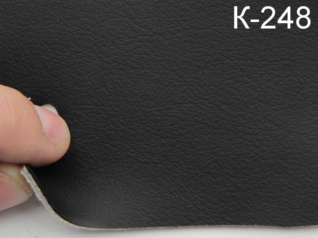 Авто кожзам черный на поролоне и сетке (Германия K-248)
