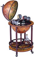 Глобус бар напольный коричневый 42003R на 4-х ножках