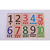Набір цифр від 1 до 10 (дерево)