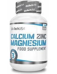 BioTech (USA) Calcium Zinc Magnesium, Кальцій, цинк, магній (100 таб.)