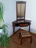 Туалетный столик угловой КРОВАТЬ Центр Дарина сосна, ольха (столик, пуфик, зеркало)
