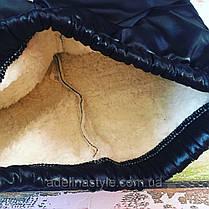 Штаны лосины детские утепленные на девочку  на меху  5-6 лет черные, фото 3