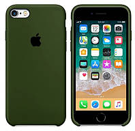 Силиконовый чехол для Apple iPhone 6 / 6S (4.7 Дюйма) Silicone case (Хаки)