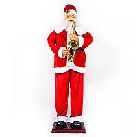 Музыкальный Санта Клаус с  саксафоном 180 см