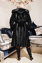 Модная  женская шуба  из эко меха коричневая норка с 44 по 58 размер, фото 3