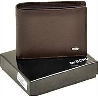 Классический мужской кожаный кошелек Dr Bond на магните Плоский строгий дизайн Чистые линии Код: КГА0078