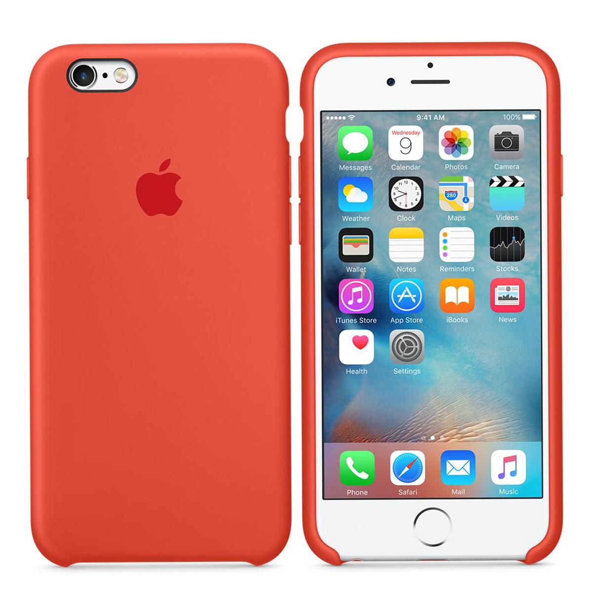 Силиконовый чехол для Apple iPhone 7 / 8 Silicone case (Оранжевый)