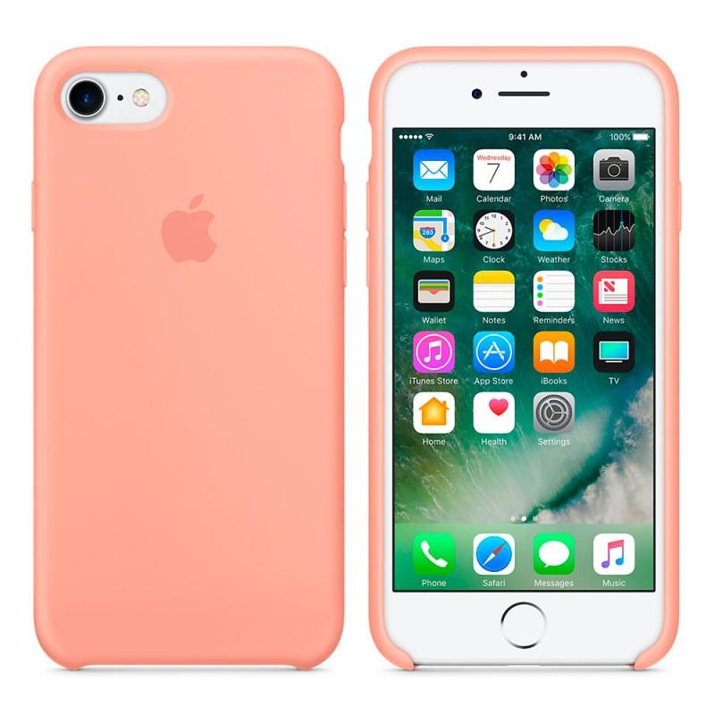 Силиконовый чехол для Apple iPhone 7 / 8 Silicone case (Фламинго)