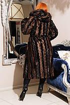 Модная  женская шуба  из эко меха серо-голубая норка с 44 по 58 размер, фото 3