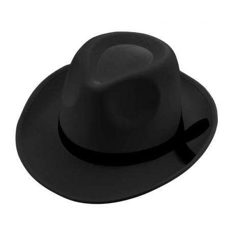 Шляпа Мафия классическая мужская черная (атлас)