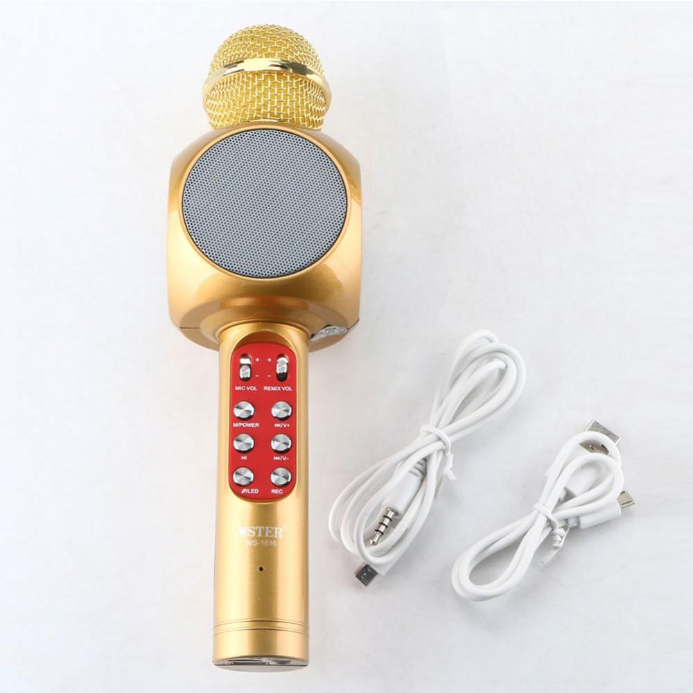 Караоке Микрофон Wster WS-1816 Матовый Золотой