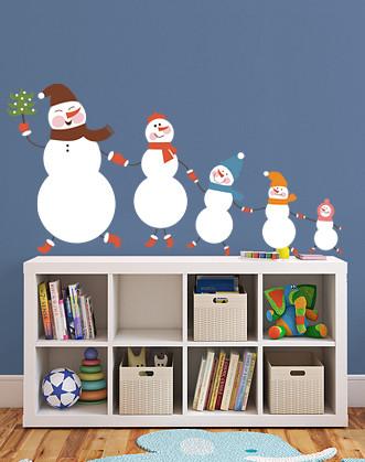 """Наклейка для прикраси до Нового року """"Снігова сім'я"""""""
